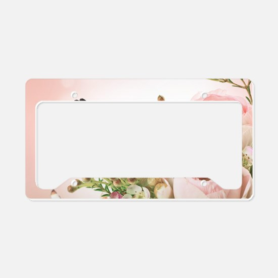 Flowers and Butterflies License Plate Holder