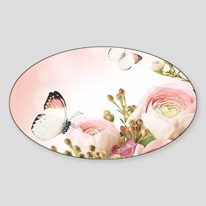 Flowers and Butterflies Sticker
