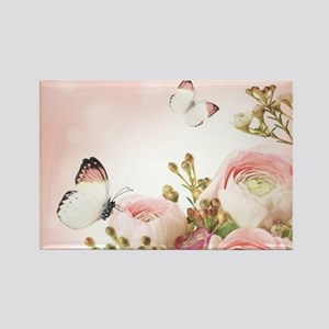 Flowers and Butterflies Magnets