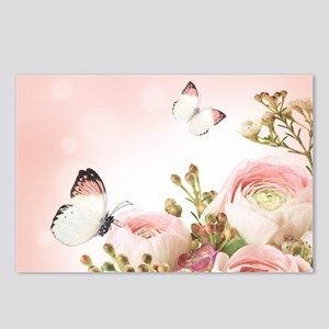 Flowers and Butterflies Postcards (Package of 8)