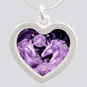 Unicorn Silver Heart Necklace