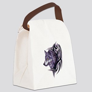 Tribal Wolf Canvas Lunch Bag