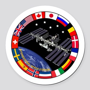 ISS Program Composite Round Car Magnet