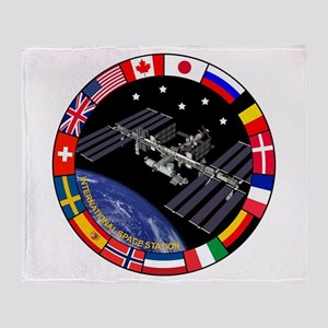 Iss Program Composite Throw Blanket