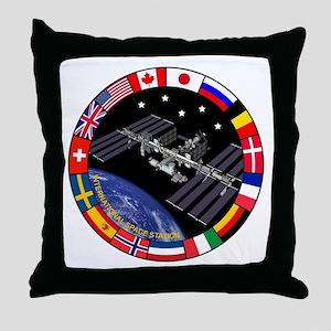 ISS Program Composite Throw Pillow