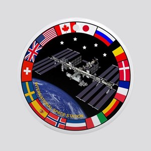 ISS Program Composite Ornament (Round)