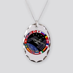 ISS Program Composite Necklace Oval Charm