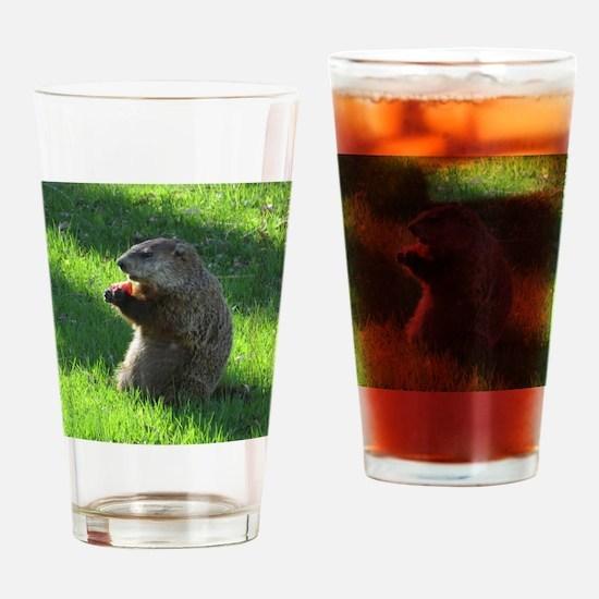 Groundhog Drinking Glass