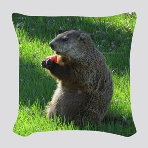 Groundhog Woven Throw Pillow