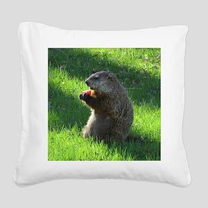 Groundhog Square Canvas Pillow