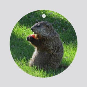 Groundhog Ornament (Round)