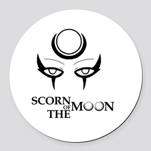 Diana, The Scorn of The Moon Round Car Magnet