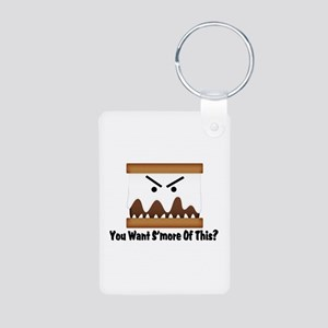 You Want S'more Of This? Aluminum Photo Keychain
