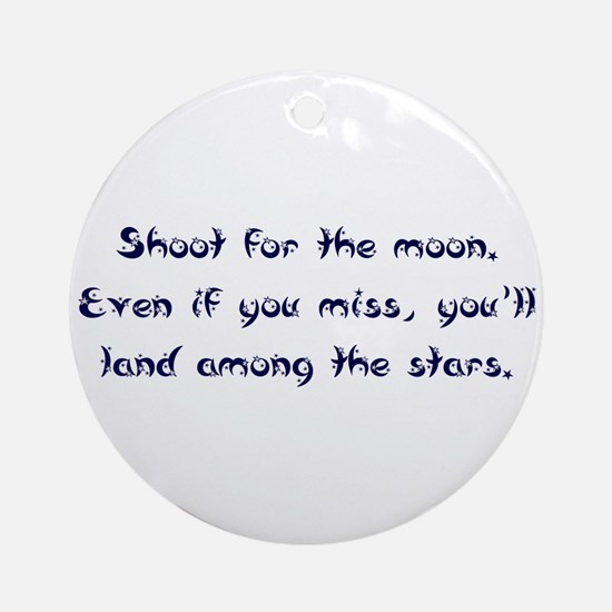 Shoot for the Moon Ornament (Round)