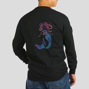 Tribal Mermaid Long Sleeve Dark T-Shirt
