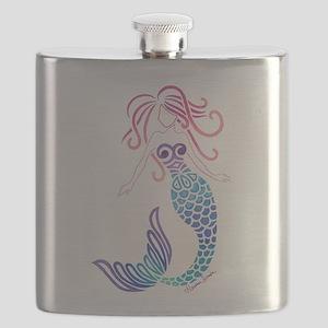 Tribal Mermaid Flask