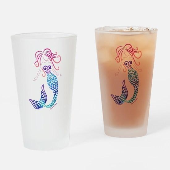 Tribal Mermaid Drinking Glass