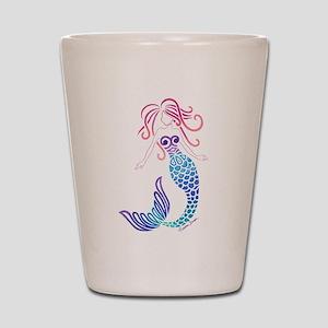 Tribal Mermaid Shot Glass