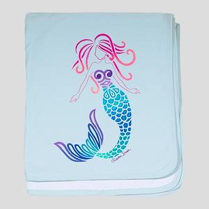 Tribal Mermaid baby blanket