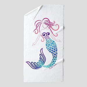 Tribal Mermaid Beach Towel