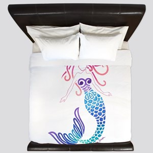 Tribal Mermaid King Duvet