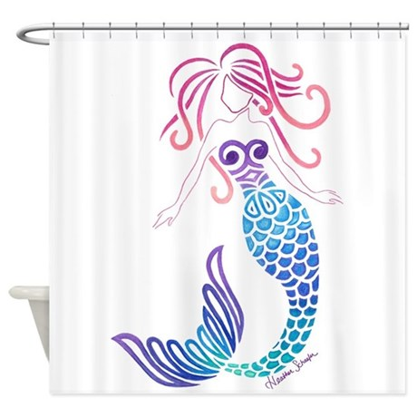 Tribal Mermaid Shower Curtain