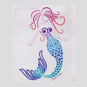 Tribal Mermaid Throw Blanket