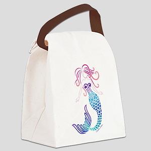 Tribal Mermaid Canvas Lunch Bag