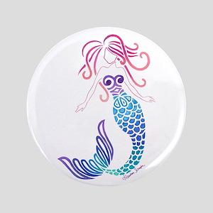 "Tribal Mermaid 3.5"" Button"