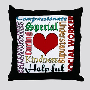 Social Worker Throw Pillow