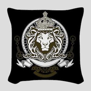 CLOJudah King Lion Woven Throw Pillow