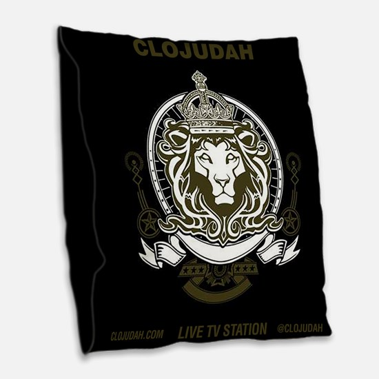 CLOJudah King Lion Burlap Throw Pillow