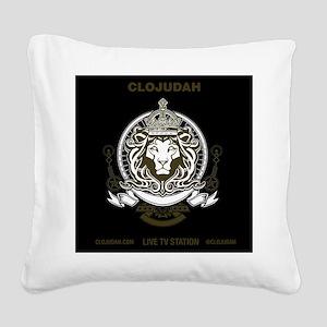 CLOJudah King Lion Square Canvas Pillow