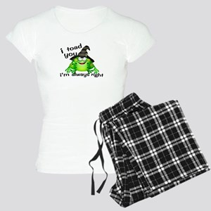 I Toad You I'm Always Right Women's Light Pajamas