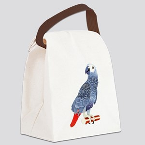 African Grey Parrot copy Canvas Lunch Bag