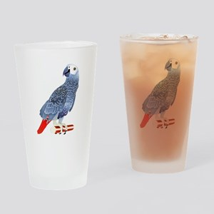 African Grey Parrot copy Drinking Glass