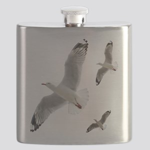 3 Gulls in Flight copy Flask