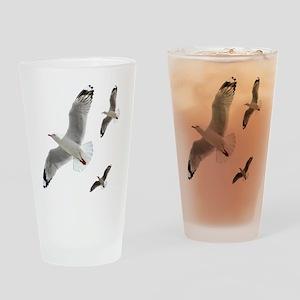 3 Gulls in Flight copy Drinking Glass