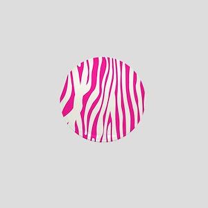 Hot Pink Zebra stripes Mini Button