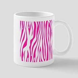Hot Pink Zebra stripes Mugs