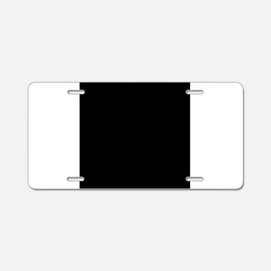 Black solid color Aluminum License Plate