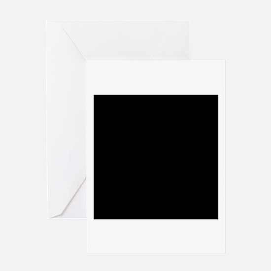 Black solid color Greeting Cards