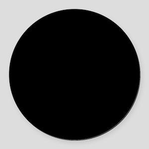 Black solid color Round Car Magnet