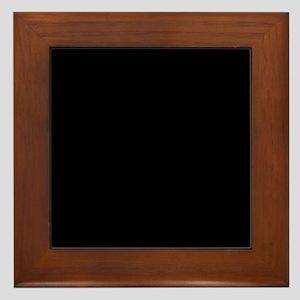 Black solid color Framed Tile