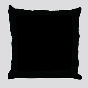 Black solid color Throw Pillow