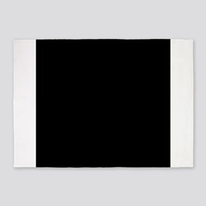Black solid color 5'x7'Area Rug