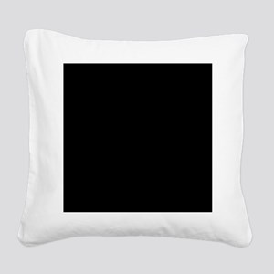 Black solid color Square Canvas Pillow