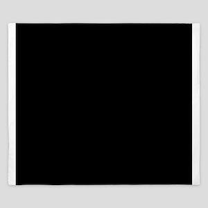 Black solid color King Duvet