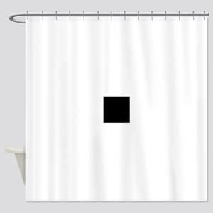 Black solid color Shower Curtain