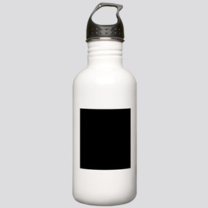 Black solid color Sports Water Bottle